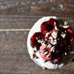 Mid-Summer Days; Chocolate Cherry Chia Pudding
