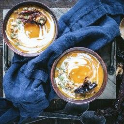 shorter days (and smoky chipotle sweet potato soup)