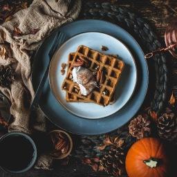 autumn rains (and pumpkin waffles)